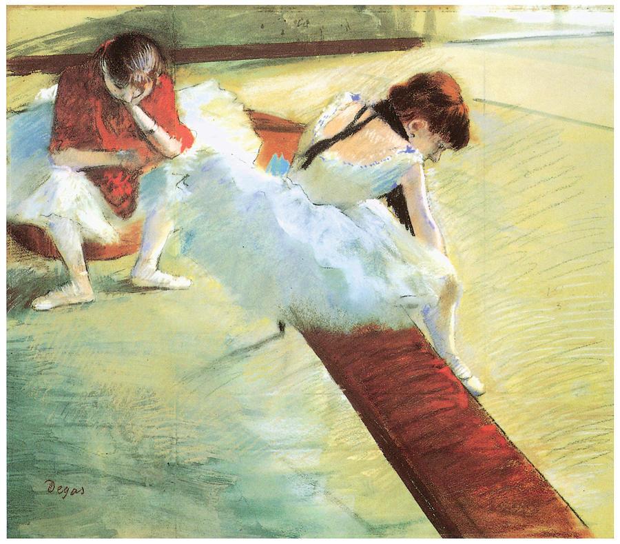 Dancers Resting Pastel - Dancers Resting by Edgar Degas