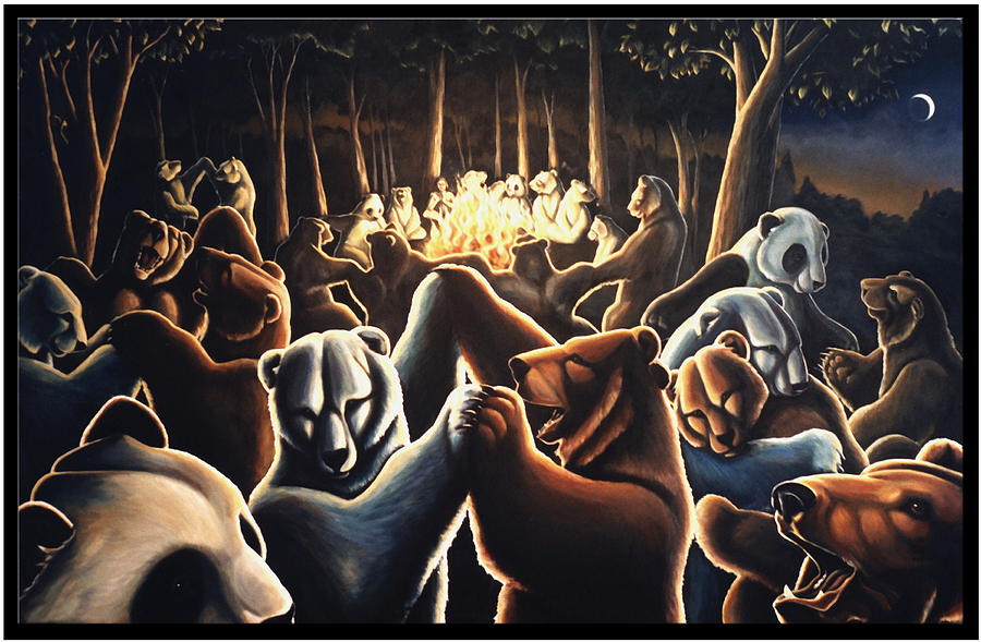Dancing Bears Painting Painting