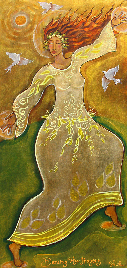 Dancing Her Prayers Painting  - Dancing Her Prayers Fine Art Print