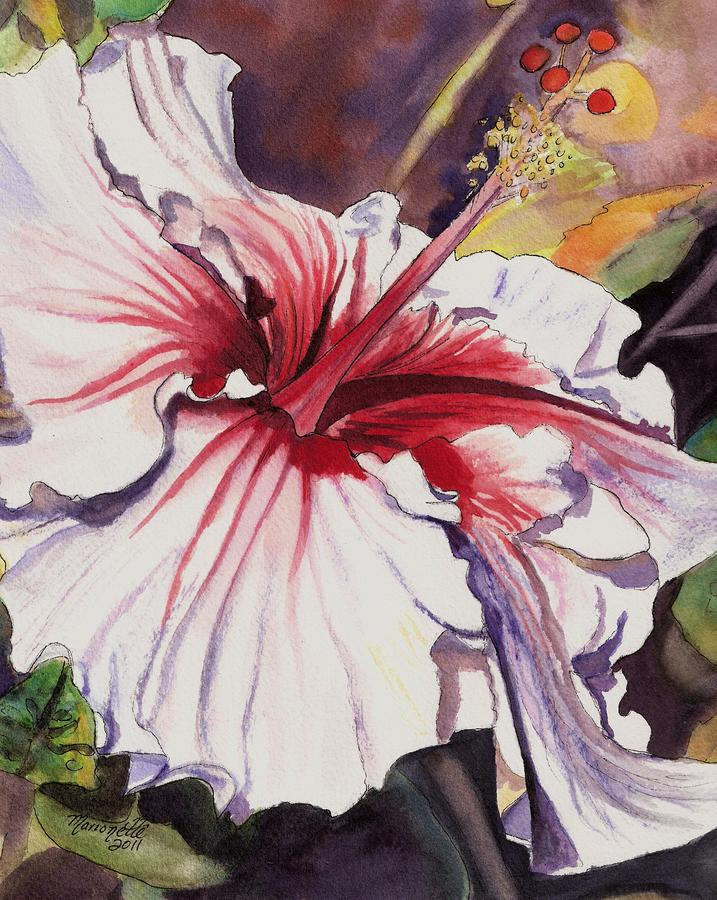 Dancing Hibiscus Painting