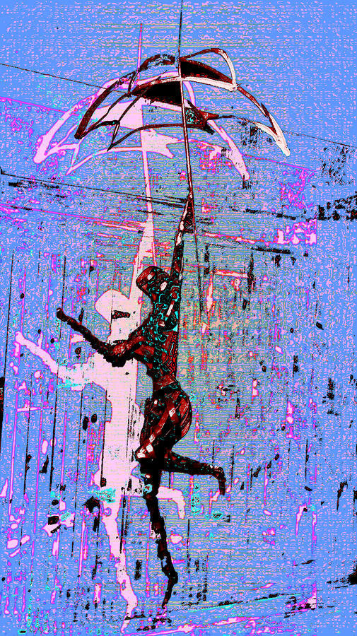 Dancing In The Rain Digital Art  - Dancing In The Rain Fine Art Print