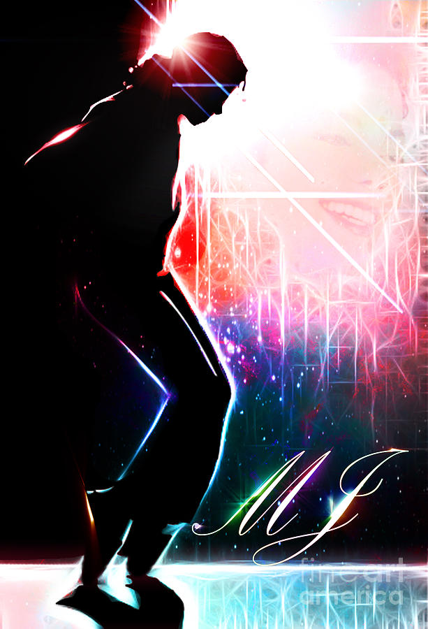 Micheal Jackson Digital Art - Dancing In The Stars by The DigArtisT