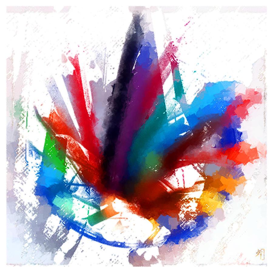 Digitalart Digital Art - Dancing Peacock by Greta Thorsdottir