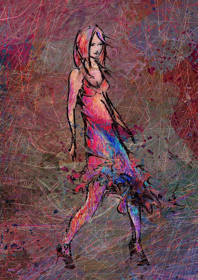 Dancing Digital Art - Dancing The Nights by Rachel Christine Nowicki