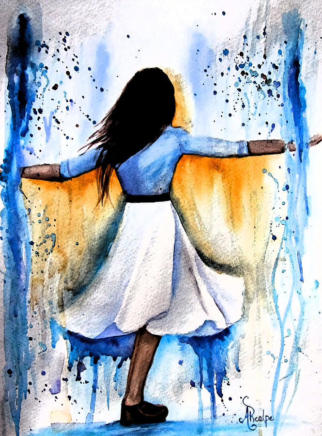 Dancing Painting - Dancing With My Soul Mate by Andrea Realpe
