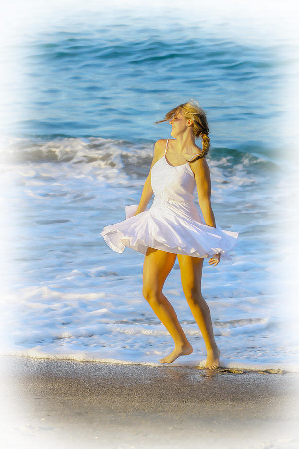 Dancing With The Waves Digital Art  - Dancing With The Waves Fine Art Print
