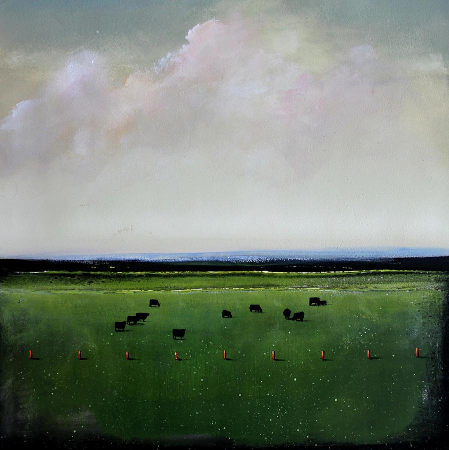 Dandelion Pastures Painting