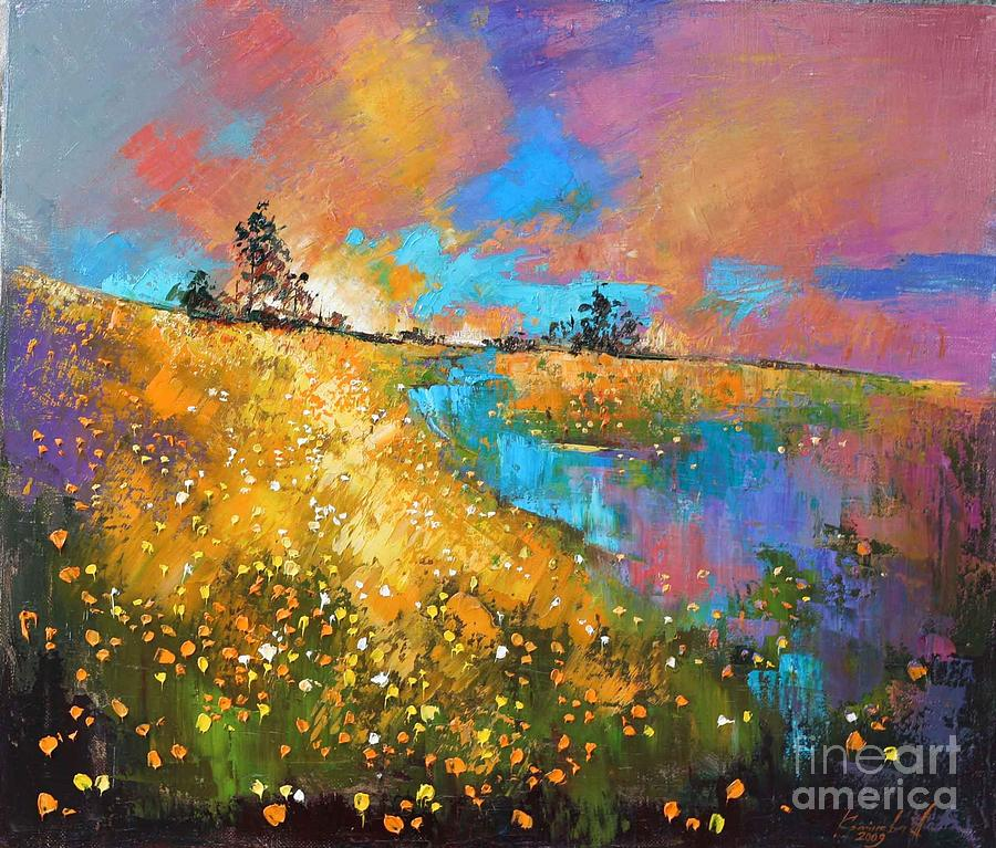 Dandelion Wine Painting