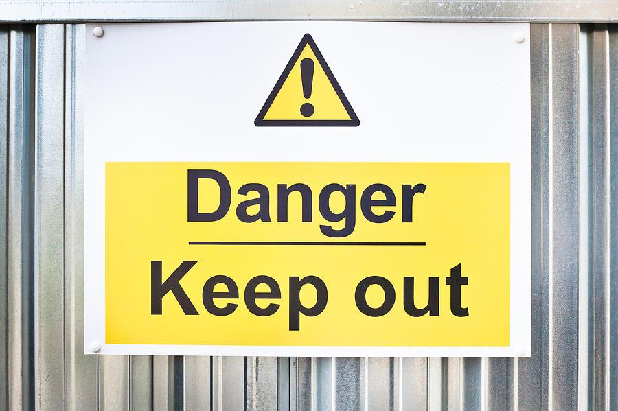 Danger Sign Photograph