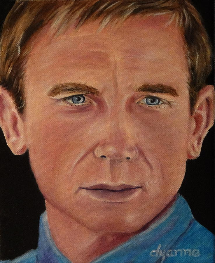 Daniel Craig Oil Painting Painting by Dyanne Parker - Daniel Craig