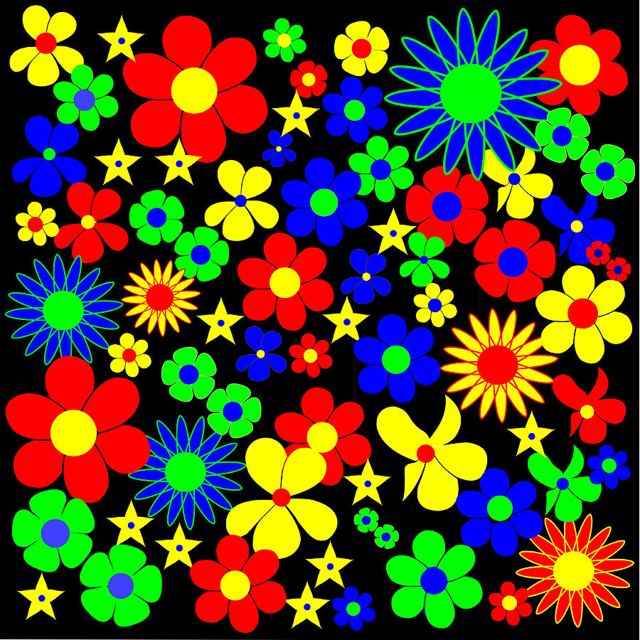 Black Rocket R20 Digital Art - Danish Flowers Flora Danica Square by Asbjorn Lonvig