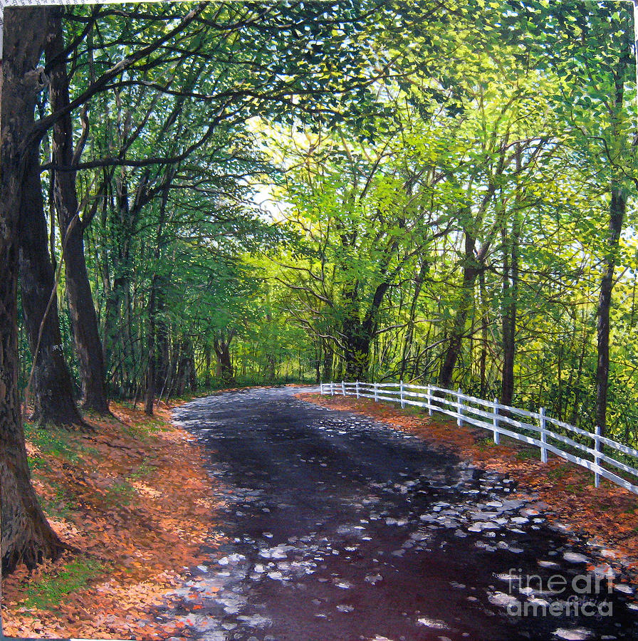 Dappled Light Lane Painting