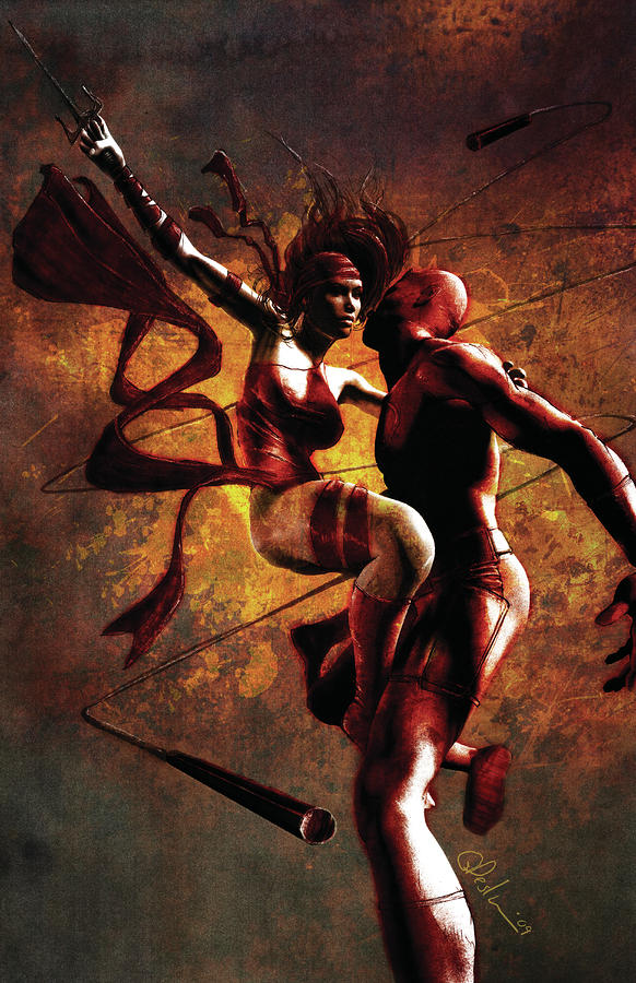 http://images.fineartamerica.com/images-medium-large/daredevil-and-elektra-gary-deslauriers.jpg