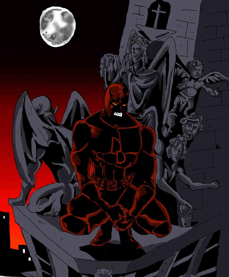 Daredevil Watches Over Hell's Kitchen Digital Art by Will ...
