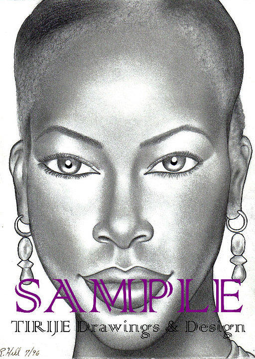 Portraits Drawing - Dark  And Lovely by Rick Hill