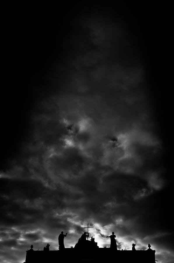 Dark Clouds Over The City - 1 Photograph  - Dark Clouds Over The City - 1 Fine Art Print