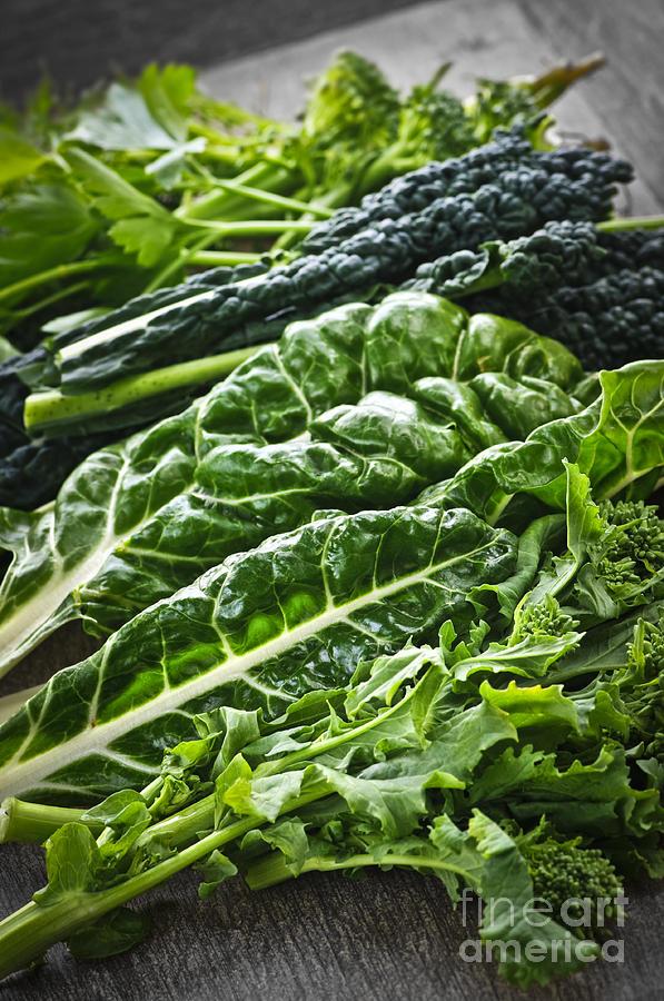 Dark Green Leafy Vegetables Photograph