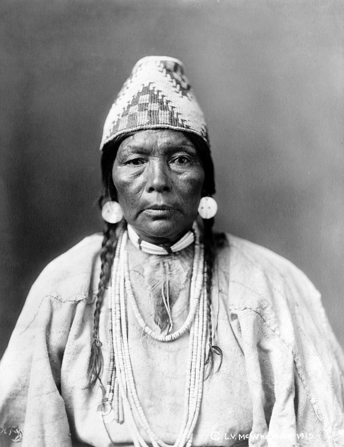 Daughter Of Chief Kamakur, Nez Perc� Photograph