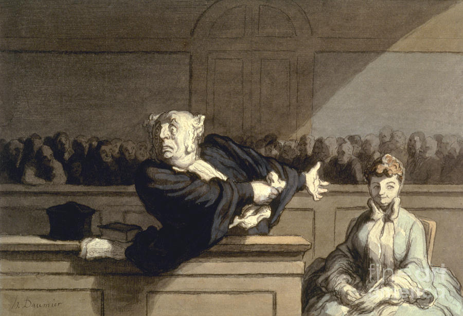 Daumier: Advocate, 1860 Photograph