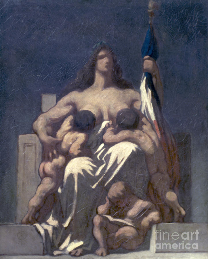 Daumier: Republic, 1848 Painting  - Daumier: Republic, 1848 Fine Art Print