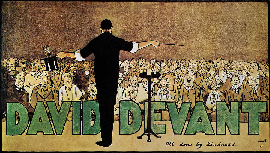 David Devant Poster C1910 Painting  - David Devant Poster C1910 Fine Art Print