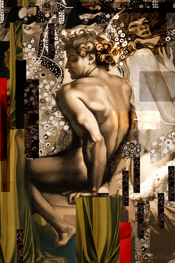 David Et Julie Painting  - David Et Julie Fine Art Print