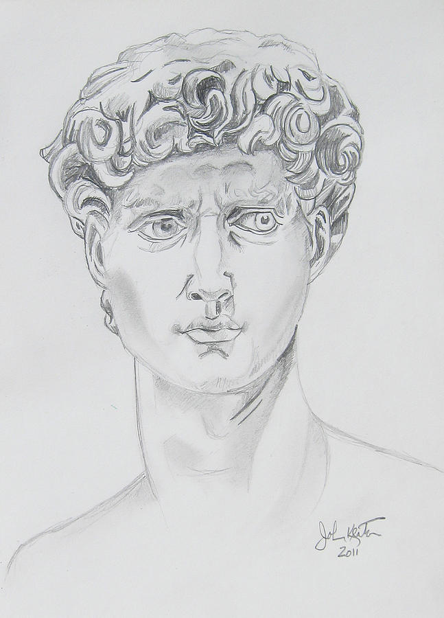 David Drawing  - David Fine Art Print