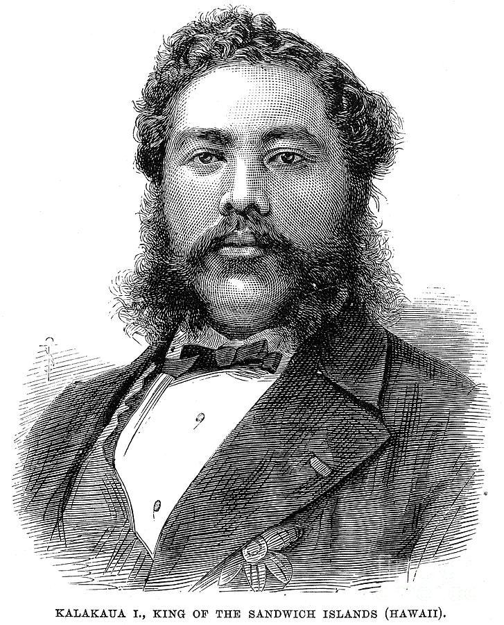 1881 Photograph - David Kalakaua (1836-1891) by Granger