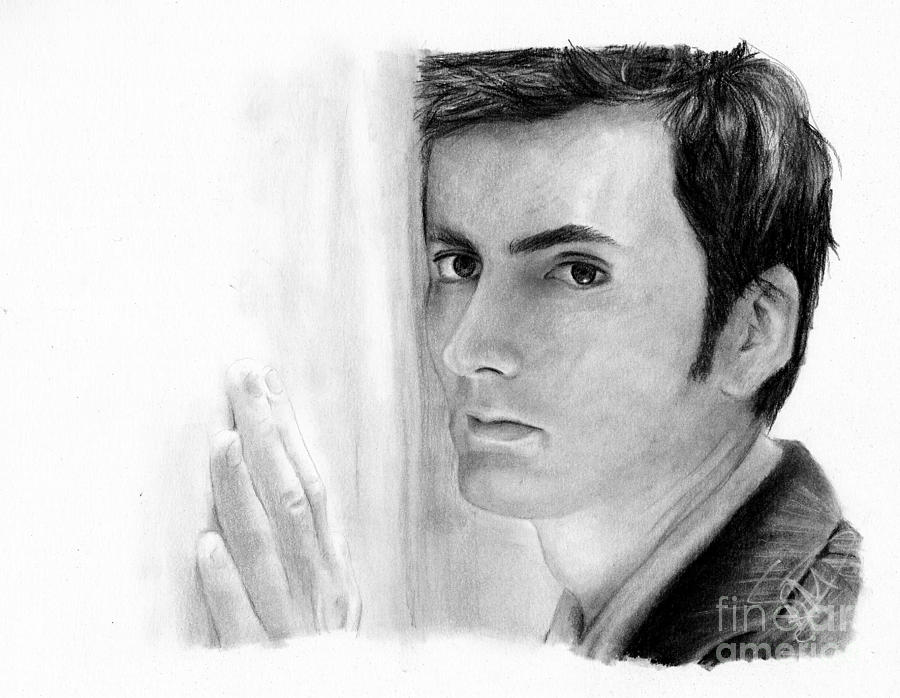 David Tennant 2 Drawing  - David Tennant 2 Fine Art Print