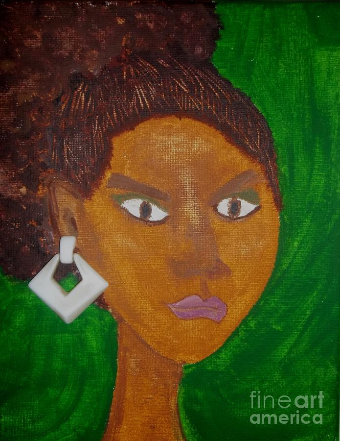 Black Woman Painting - Davina by LCherise