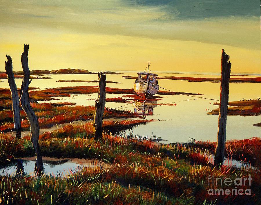 Dawn At Saltmarsh by David Lloyd Glover