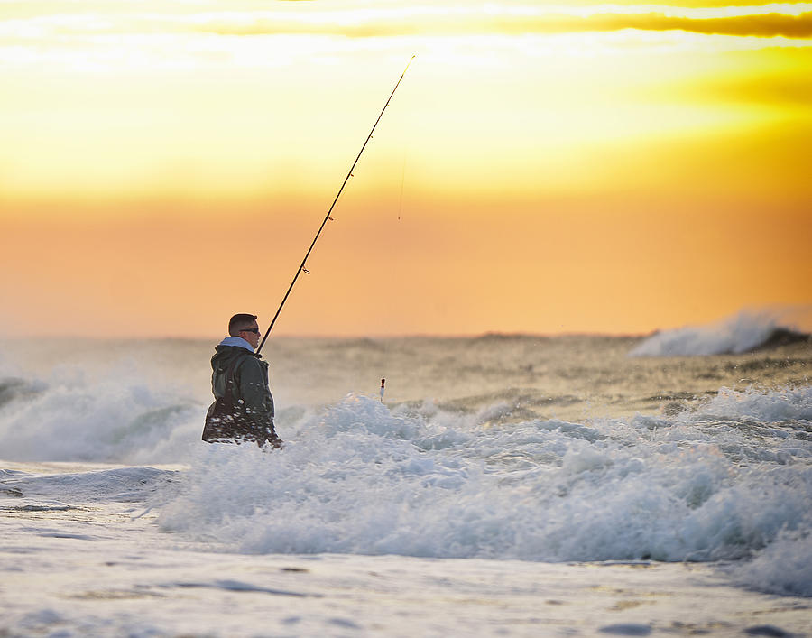 Fisherman Photograph - Dawn Fishing by Vicki Jauron