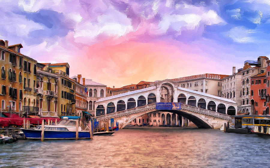 Rialto Bridge Paintings for Sale