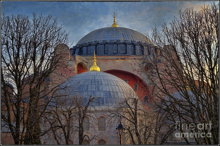 Dawn Over Hagia Sophia Photograph  - Dawn Over Hagia Sophia Fine Art Print