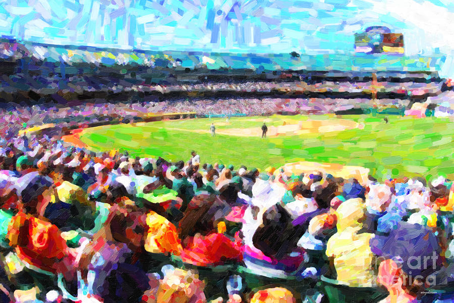 Day Game At The Old Ballpark Photograph  - Day Game At The Old Ballpark Fine Art Print