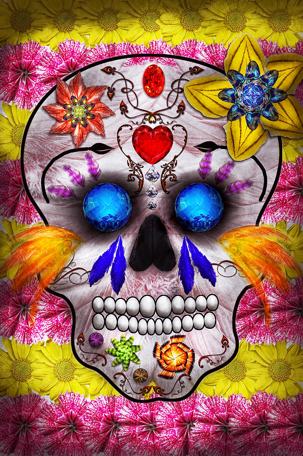 Day Of The Dead - Death Mask Photograph  - Day Of The Dead - Death Mask Fine Art Print