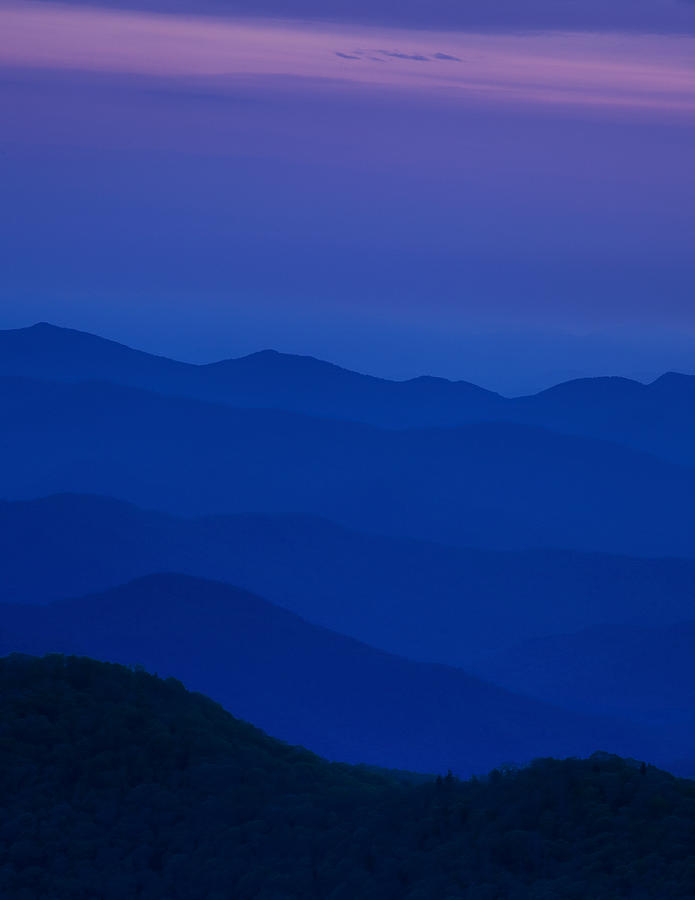 Days End At The Blue Ridge Photograph