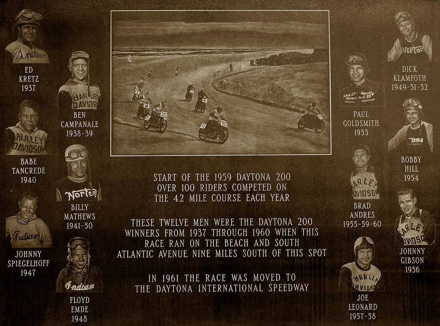 Daytona 200 Plaque Photograph