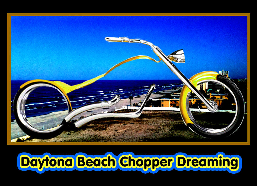 Daytona Beach Chopper Dreaming Yellow Gold Jgibney The Museum Digital Art