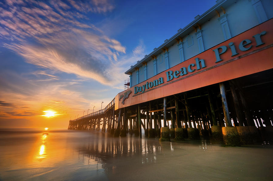 Beach Photograph - Daytona Sunrise by Ryan Heffron