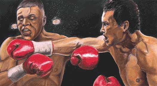 De La Hoya Vs Vargas Painting