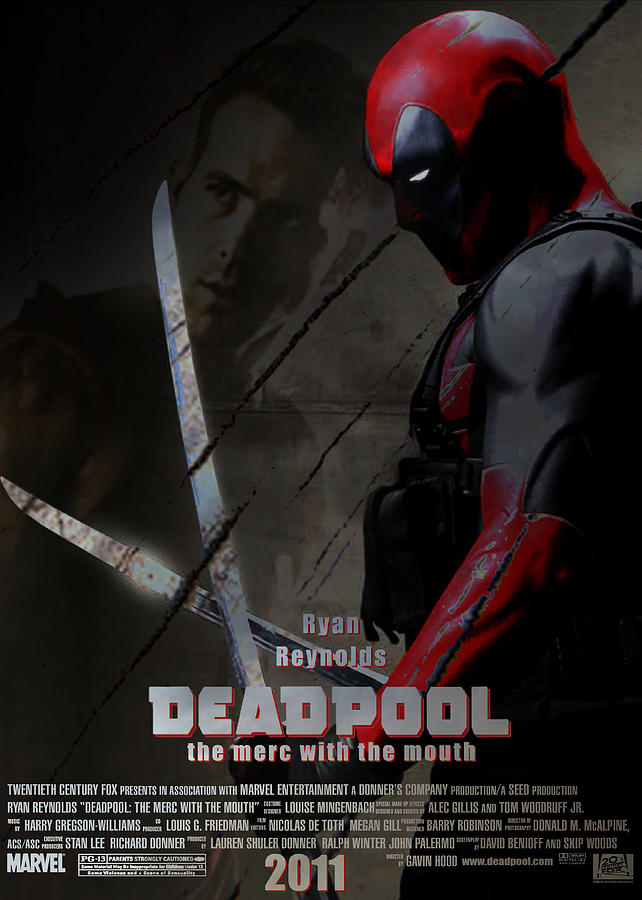 Deadpool Unofficial Movie Poster Digital Art