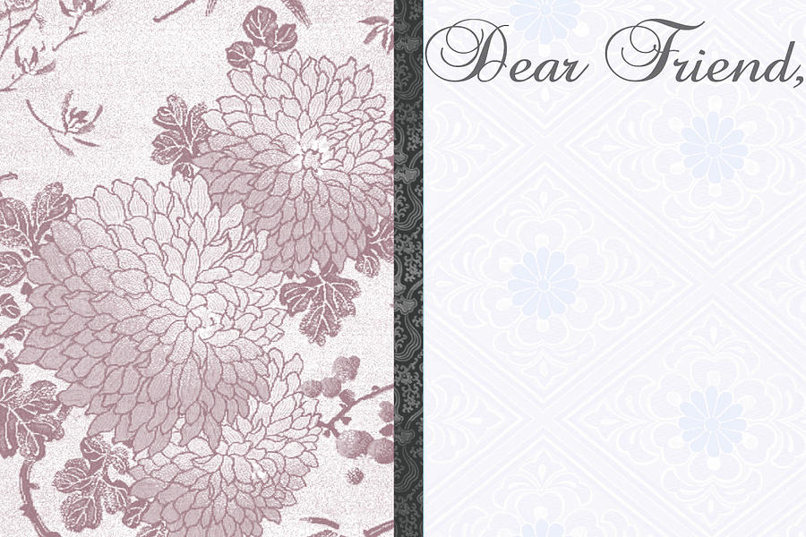 Dear Friend 3 Digital Art  - Dear Friend 3 Fine Art Print