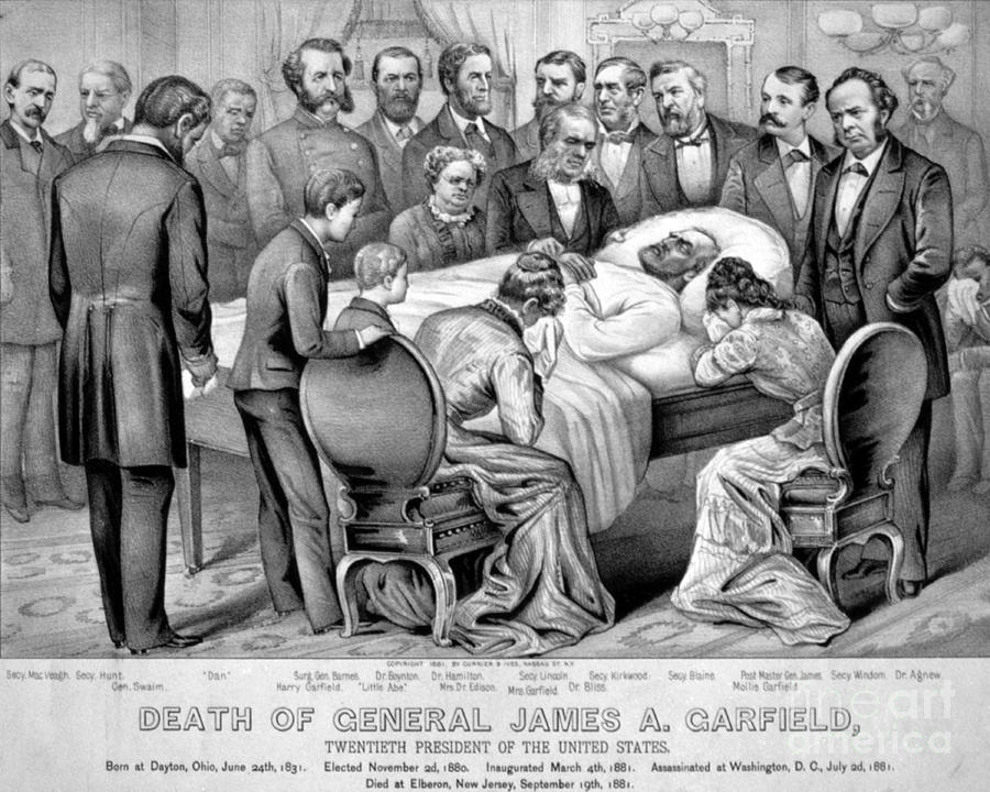 Death Of Garfield, 1881 Photograph  - Death Of Garfield, 1881 Fine Art Print