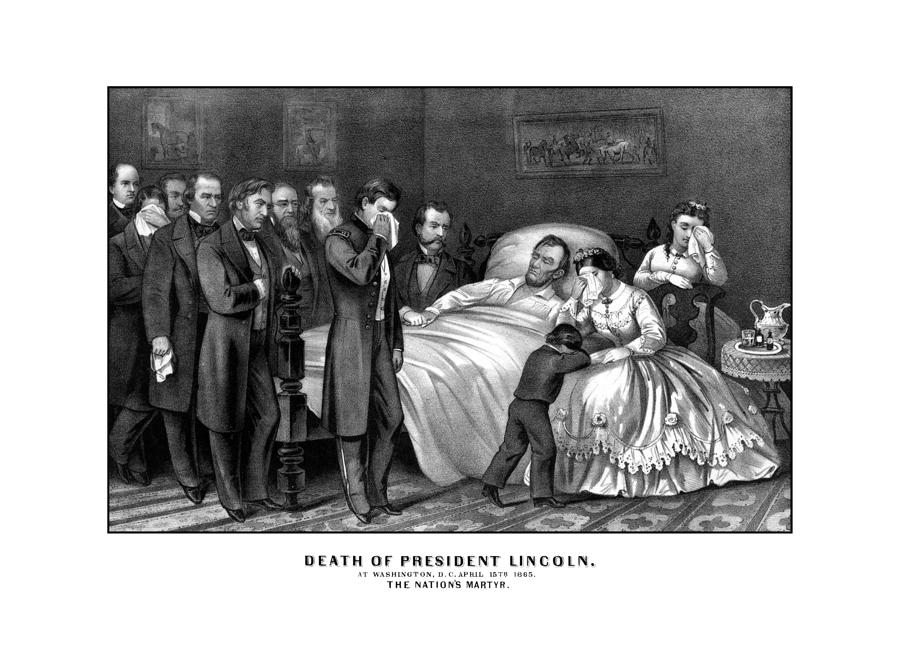 Death Of President Lincoln Drawing  - Death Of President Lincoln Fine Art Print