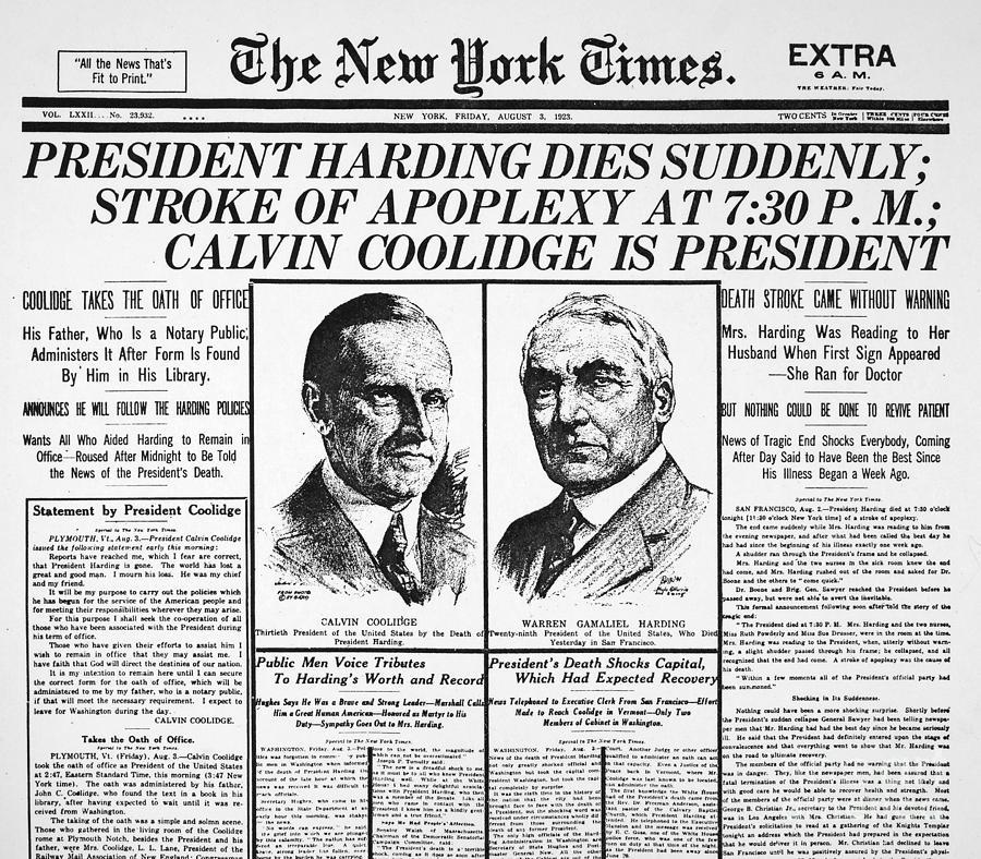 President harding scandals