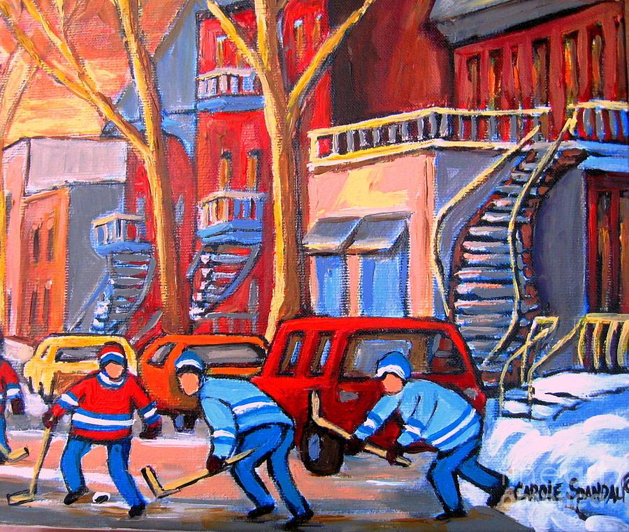 Debullion Street Hockey Stars Painting