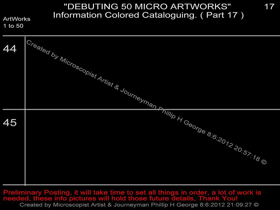 Debuting 50 Micro Artworks Part 17  Digital Art  - Debuting 50 Micro Artworks Part 17  Fine Art Print