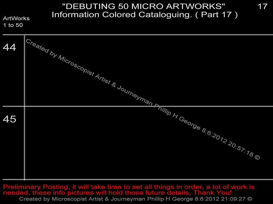Nanomicroinfinity Art Digital Art - Debuting 50 Micro Artworks Part 17  by Phillip H George