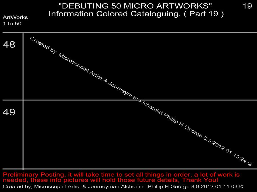 Debuting 50 Micro Artworks Part 19  Digital Art  - Debuting 50 Micro Artworks Part 19  Fine Art Print